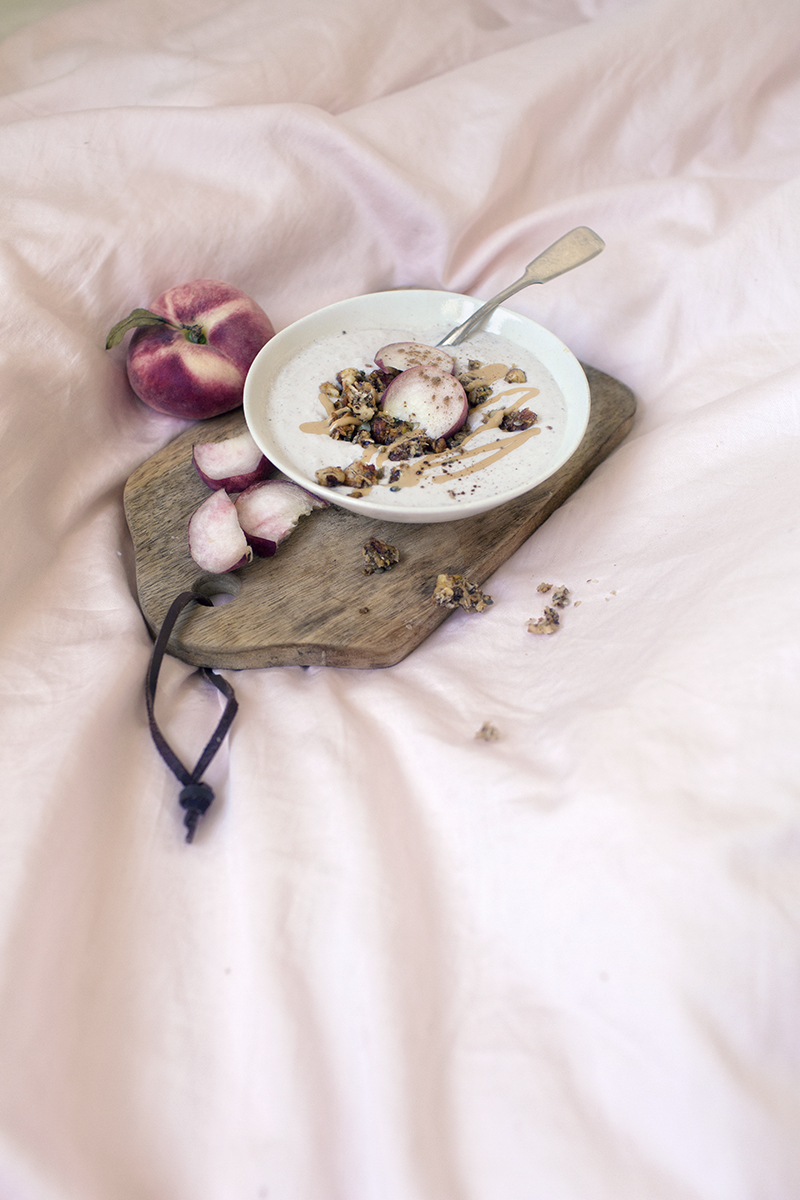 Peach Coconut Yogurt and Cinnamon Granola