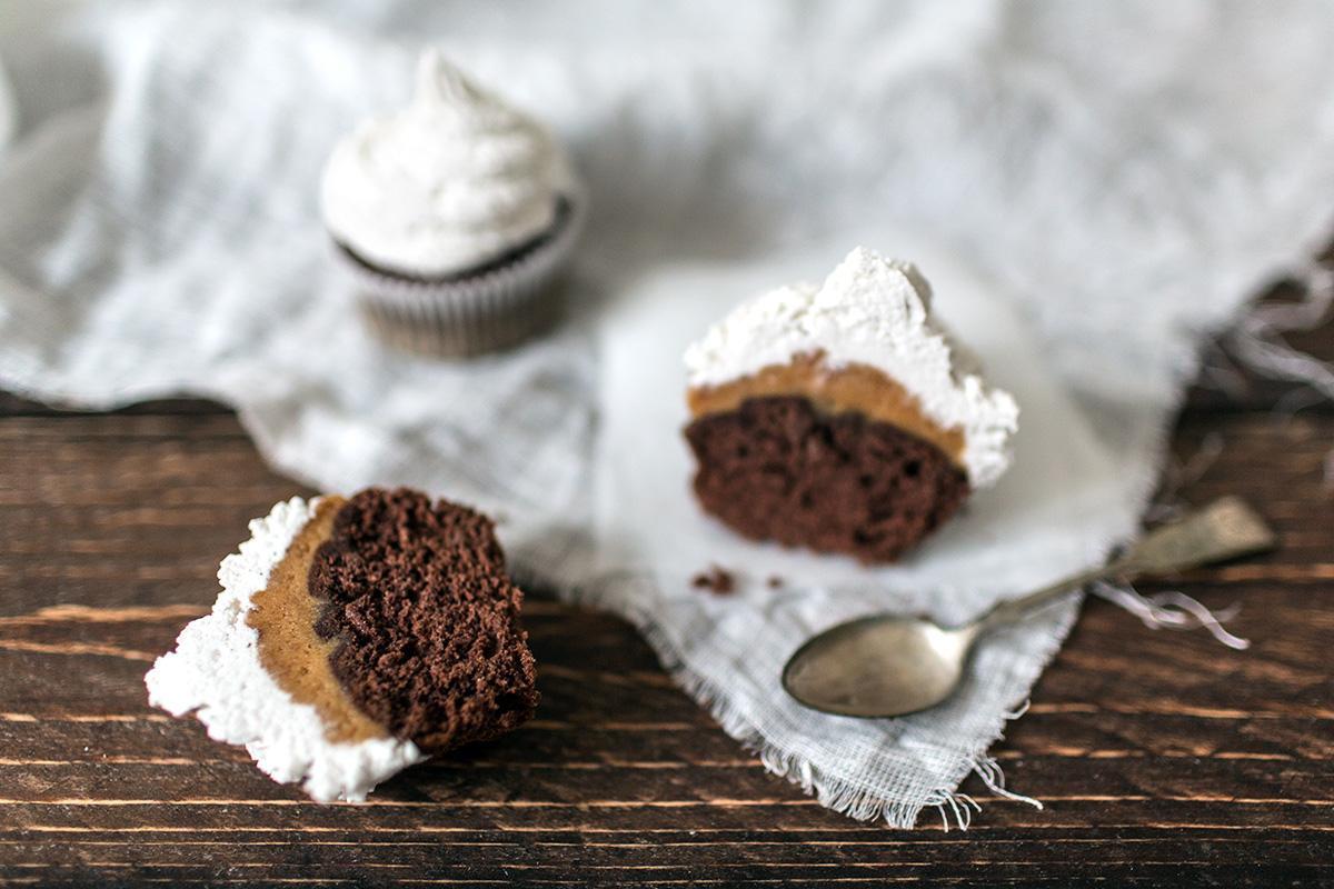Caramel filled mocha muffins