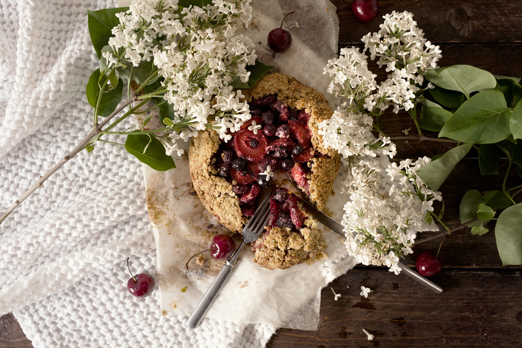 Mixed Berry Oat Galette