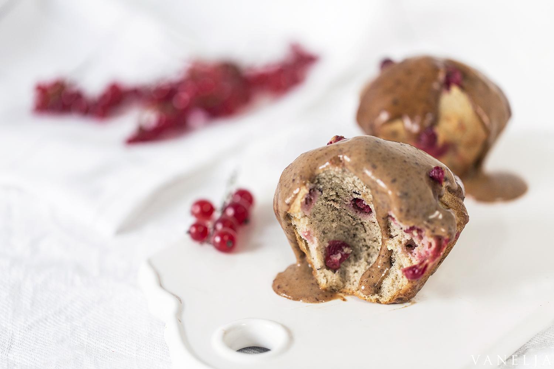 Redcurrant Caramel Muffins