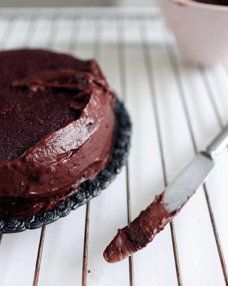 Suklaa-punajuuri-kakku