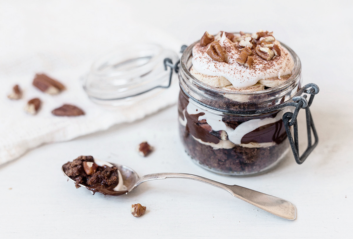 Chocolate Luxury Cake in a Jar