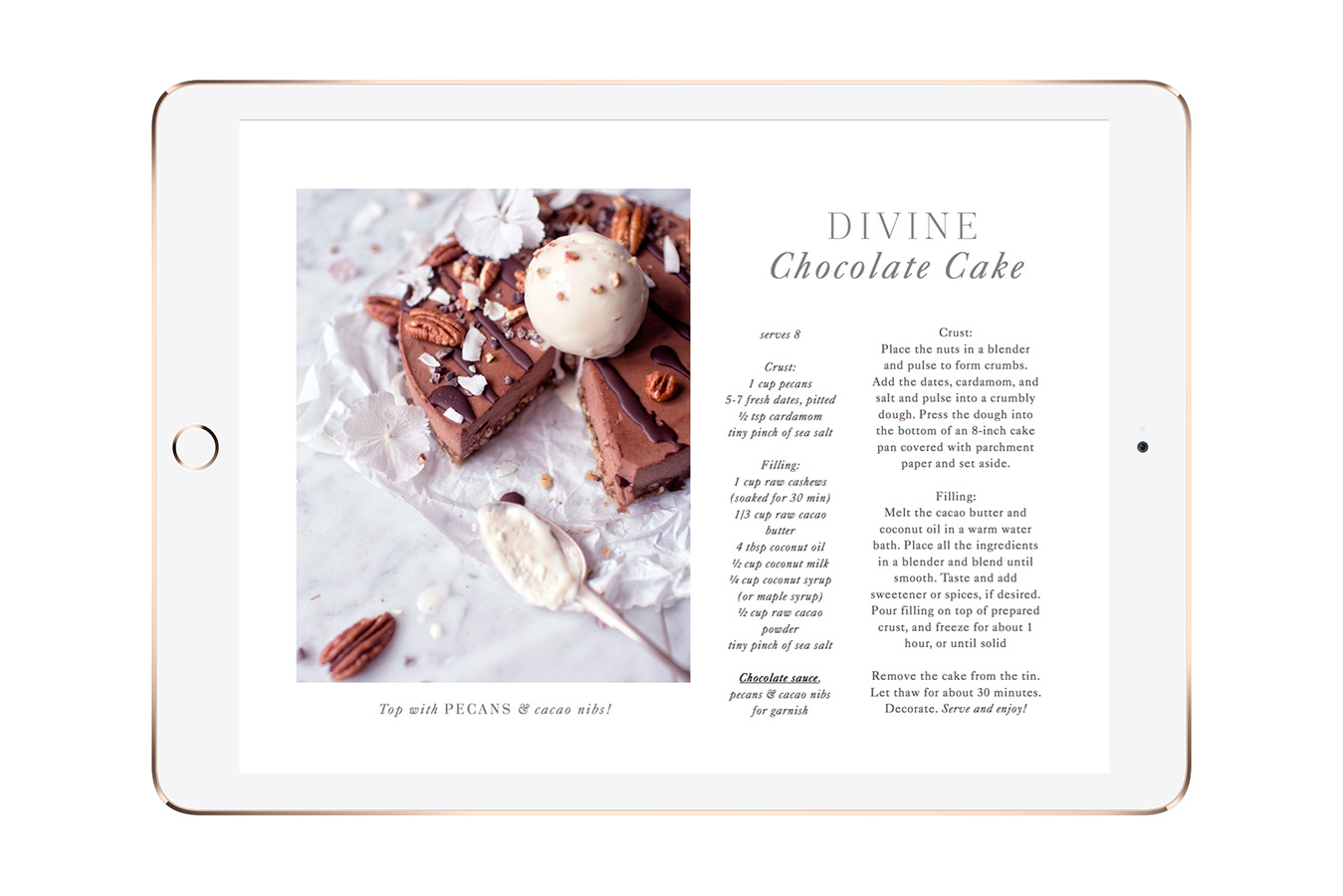 Divine Raw Chocolate Cake