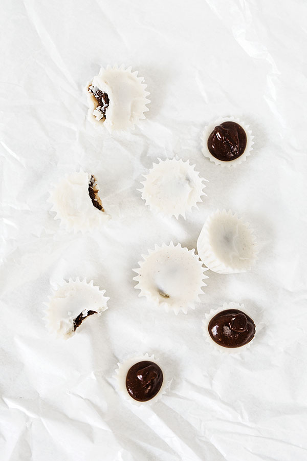 Vanilla coconut drops with chocolate heart